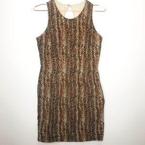 Vintage Silk Dress Leopard Print Robbie Bee 4
